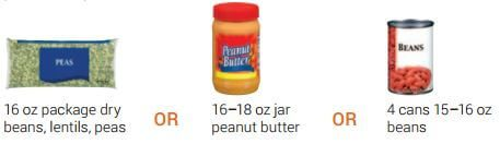 WIC bean and Peanut butter options-1