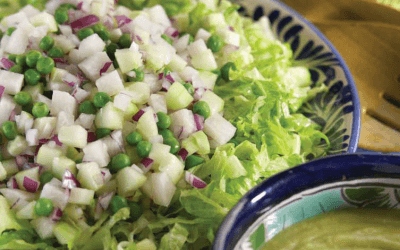 Vegetable Salad with Tangy Avocado Dressing